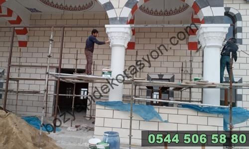 Cami Dış Cephede Renkli Mozaik Karo Yapanlar Sinop