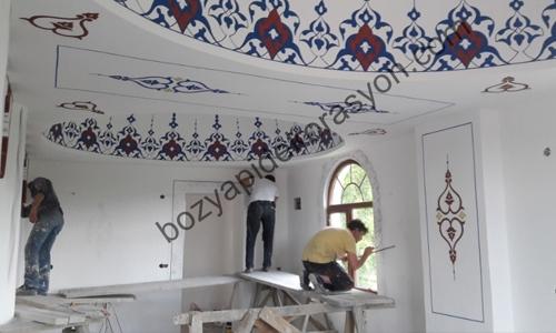 Camii Nakkaş İşlerinde Uzman Nakışlar Bolu