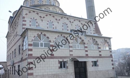 Camiilerin Dış Cephesi Mozaik Desenli Kaplama İşleri Gaziantep