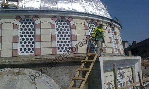 Denizli Camii Minare ve Şadırvan Çatısı Kaplama İşleri