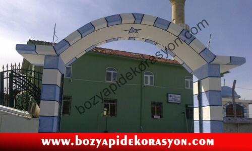 Kocaeli Camii Kapısı ve Dışı Renkli Mozaik Kaplaması ve Boyama
