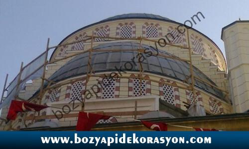 Konya Camii Kubbelerinde Alüminyum Kaplama İşleri