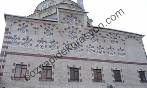 Merkez Camiilerin Dış Cephelerindeki Mozaik Şeklindeki Sıvalar Gümüşhane
